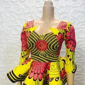 Ladies, Checkout 45 Peplum Ankara Styles To Try Out With Either Skirt Or Trouser