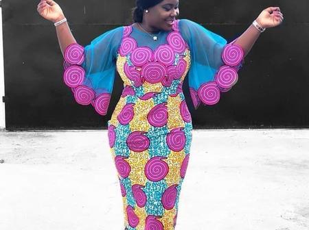 Ladies, Combine Your Ankara And Chiffon Fabric Like A Fashionista