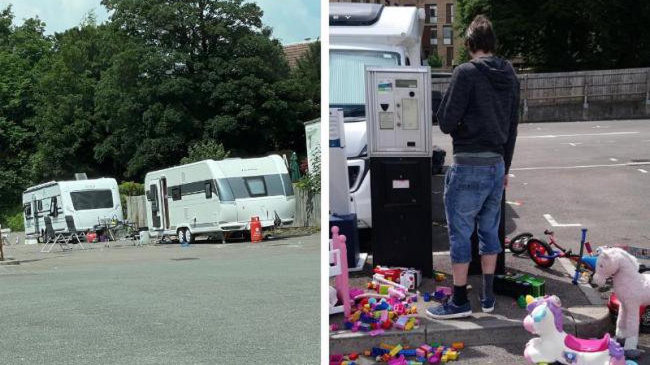 Travellers move on from Winchester car park and leave behind children's toys