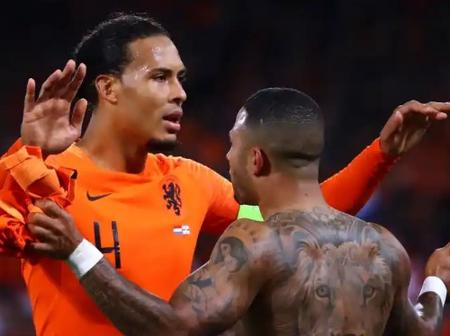See What Memphis Depay did for Liverpool Injured Defender After Scoring for Lyon on Sunday