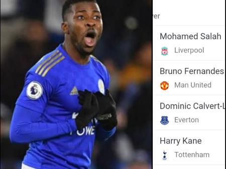 After Iheanacho Scored A Goal, See Who Is Leading The Premier League Golden Boot Race