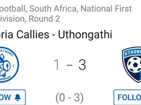 Uthongathi FC impressed with a 3-1 win against Pretoria Callies.(Opinion)
