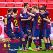 Bad News For Barcelona Despite Win Against Sevilla