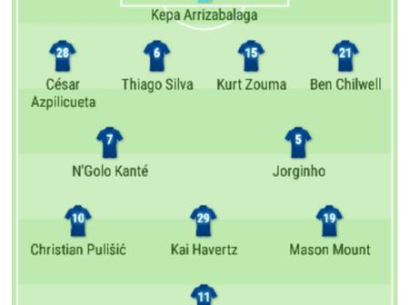 UEFA CL: Chelsea's Possible Line Up Against Sevilla