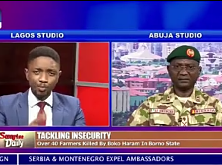Read What Army Said About Farmers Killed By Boko Haram In A TV Interview