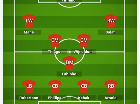 How Liverpool could Lineup to defeat Arsenal in Saturday's Clash at the Emirates.