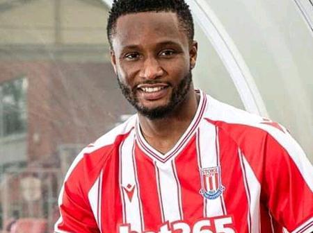 Former Chelsea Player, John Obi Mikel Joins Stoke City Ahead of 2020/2021 Season