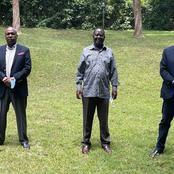 President Uhuru Kenyatta's Brother and Senator Gideon Moi Meet Raila Odinga -PHOTOS