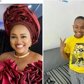 Mercy Aigbe Shows Off Her Son, Calls Him,