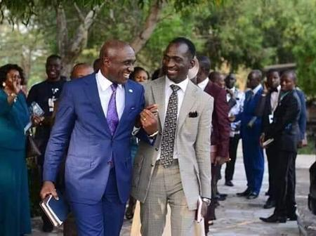 Pictures Of Pastor Paul Eneche and Pastor David Ibiyeomi Giving Us Friendship Goals