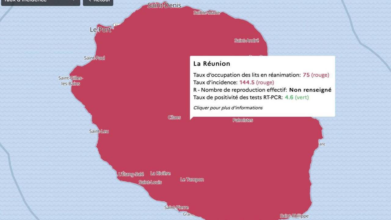 Covid-19 Réunion : le taux d'incidence monte inexorablement, 144,54 !