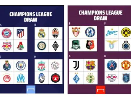 Manchester United in Champions League group of death, while Ronaldo and Messi face off in Group G