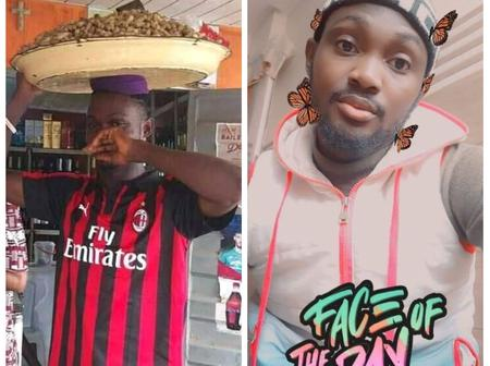 Guy disguises as a groundnut seller in search of true love on Facebook (Photos)