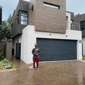 Emtee seen standing in front of his beautiful Crib. The boy has done well for himself. See pictures