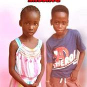 Two Children Goes Missing Again, Anybody With Information about These Two Should Contact The Police.