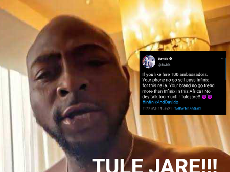 'Tule Jare' - This Is What Davido Said About Infinix And Other Phones That Has Got People Talking
