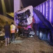 2 Cold and sealed beers and empties were found in this truck when the driver lost control & crashed