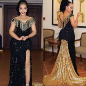 Classy ladies, take a look at these 16 elegant sequin gown styles your tailor can make for you