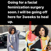 Funny Reactions From Nigerians As Bobrisky Says He's Going For A Facial Feminisation Surgery.