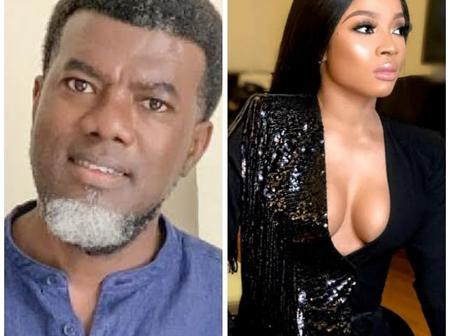 Toke Makinwa angrily reply Reno Omokri for calling out women with plastic body