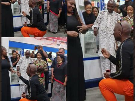 Romantic: Charly Boy proposes to his wife again after 45 years of marriage (photos)