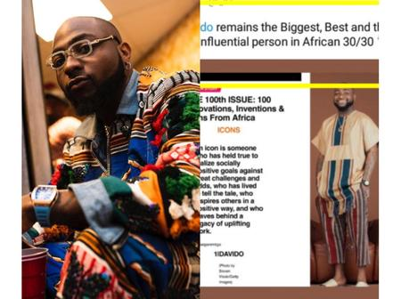 Reactions after American Business Magazine said Davido is the biggest and most influential African