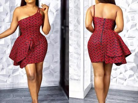 Look Outstanding with any of these Unique Sewn Ankara Short Gowns (Photos)