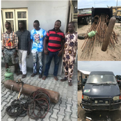 Suspects arrested with stolen construction iron rods, offered N500,000 bribe to the officers.