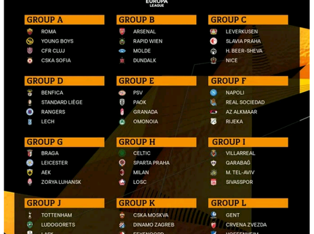 Europa League returns: See the draws for the 2020/21 Europa League Group stage Competition
