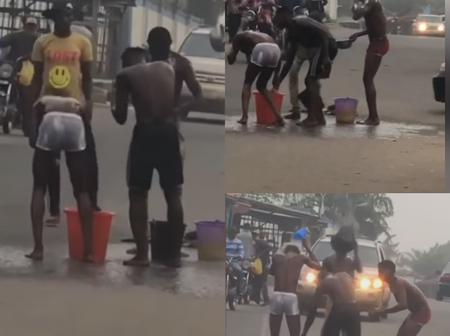 Video: See What 4 Suspected Yahoo Boys Were Spotted Doing In Broad Daylight That Sparked Reactions
