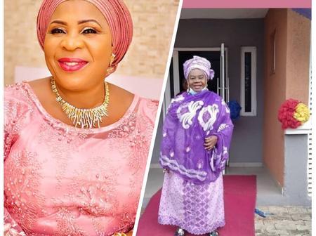 Veteran Actress Madam Saje Finally Congratulate Veteran Actress Mama Awero On Her New House.