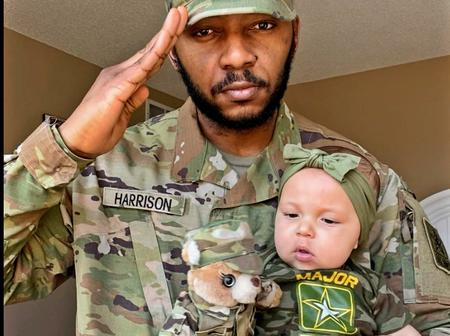 Photos Of Nigerian USA Soldier With His Daughter Cause Uproar On Social Media