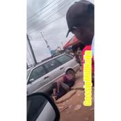 [VIDEO]: In Benin, See How Two Matured Men Were Caught On The Road Fighting That Got People Talking
