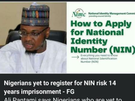 Nigerians That Are Yet To Register For NIN Risk 14- Years Imprisonment -FG (See Details)