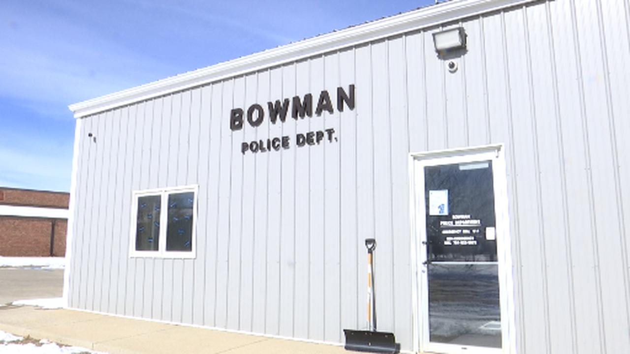 KX Gives Back to Bowman Police Department after a community effort to catch bank robber