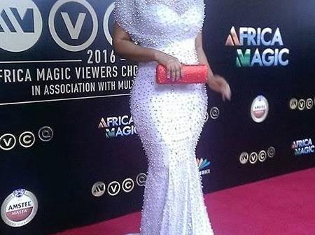 Checkout Beautiful Photos Of Mercy Aigbe On White Dinner Gown