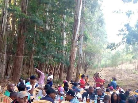 Internet Erupts as This photo of Cunning Netizens Drinking Alcohol in the Forest Surfaced Online