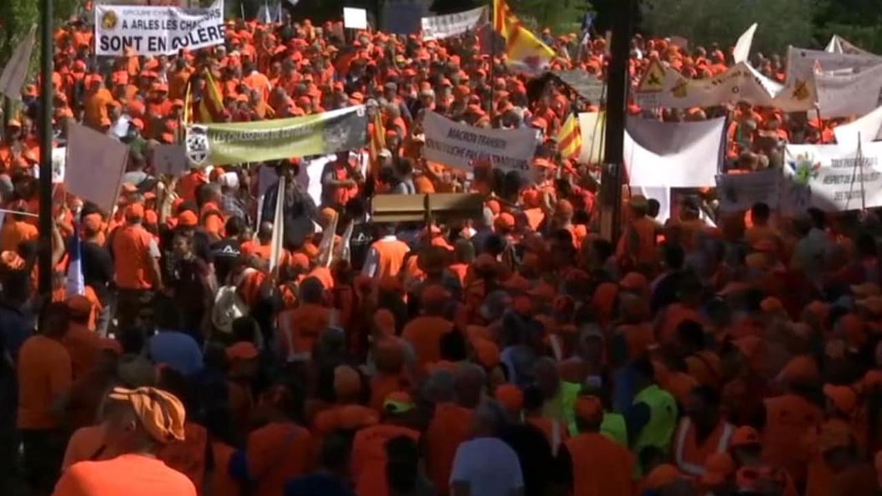 Les chasseurs mobilisés en masse à Forcalquier ce samedi