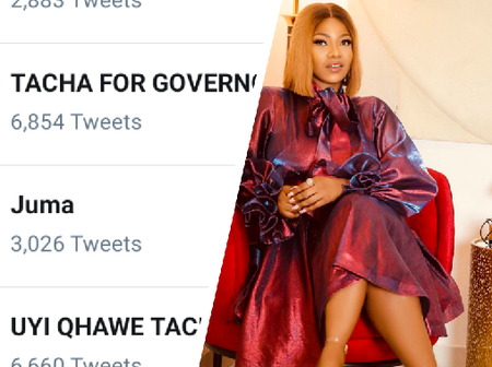 Tacha is trending on twitter, see the reason behind her latest trend.