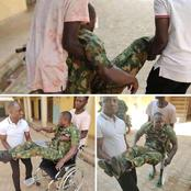 I'm A Gallant Soldier, Always Ready To Serve Nigeria, My Wife Left Me After My Accident - Man Cries