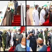 PHOTOS: See How Buhari Was Received At The Airport After Landing Nigeria From His London Trip