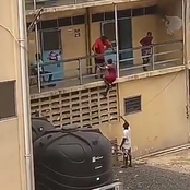 Video: Girl Climbs Wall To See Boyfriend At The University Hostel