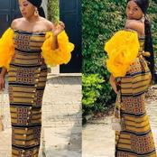 24 Ankara with organza combination for pretty women