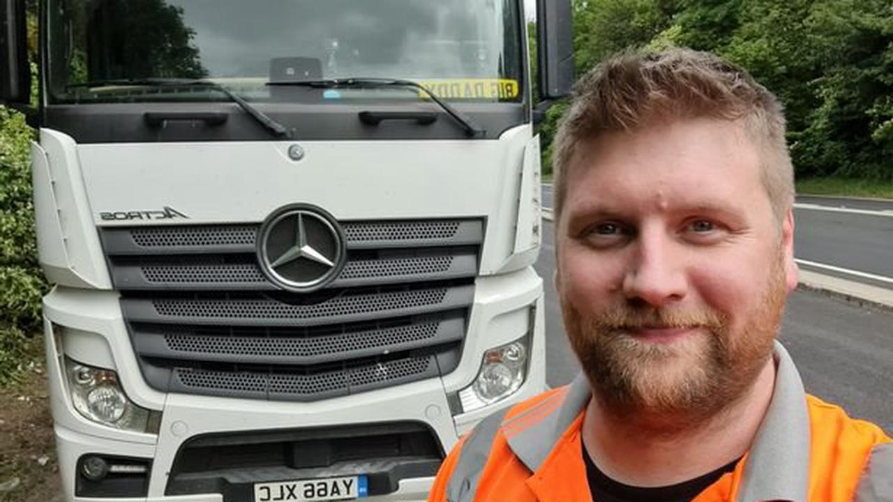 'I know that helplessness': Trucker that parked lorry under M62 bridge to stop man from jumping speaks out