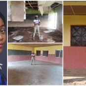Corps member revamps dilapidated classrooms in Kogi; fixes roofs and paints wall during her service