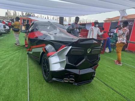 aaf57d62fa4844a3bc5ec54e79cabe11?quality=uhq&resize=720 - Kwadwo Safo Jnr Celebrates His Birthday With A Lamborghini Cake After Building The Same Type Of Car