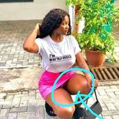 A Picture Of A Lady Who Mistakenly Shows Her Underwear In A Photoshoot Goes Viral.