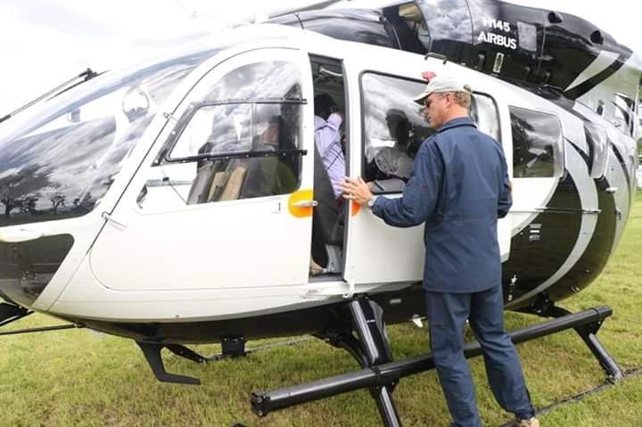 William Ruto chopper