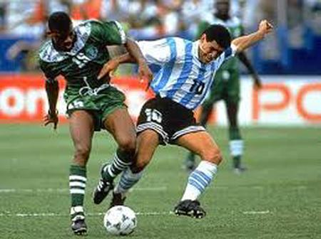 Tackling Maradona was quite difficult at the 1994 world cup- Oliseh