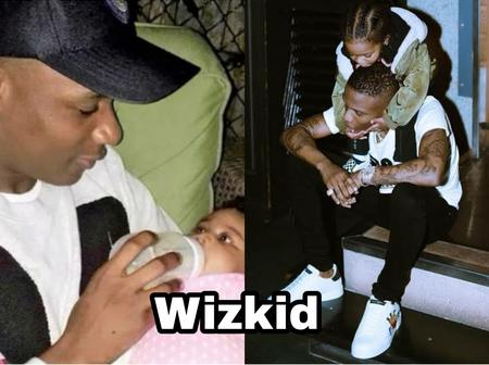 Photos of Davido, Wizkid, others spending time with their children